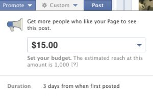 Facebook Promoted Post Pricing Seems Variable