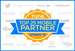 Top 25 Advertising Partners, Spring 2015