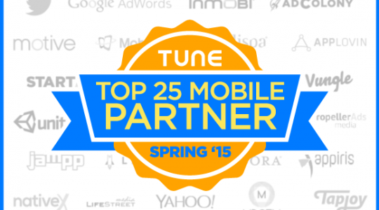 Top 25 Advertising Partners, Spring 2015
