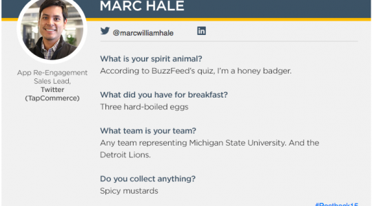 Spotlight On: Marc Hale, App Re-Engagement Sales Lead for Twitter