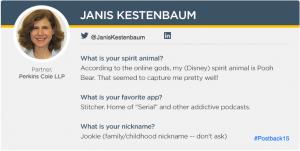 Spotlight on: Janis Kestenbaum, Partner at Perkins Coie LLP