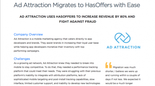 Ad Attraction Easily Migrates to HasOffers, Increases Revenue by 80%