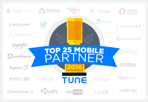 Top 25 global advertising partners of 2016
