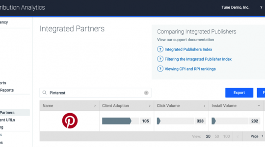 Announcing TUNE's Measurement integration with Pinterest