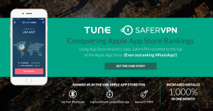 Case study: How SaferVPN beat out Whatsapp to #1 in the Apple App Store Rankings