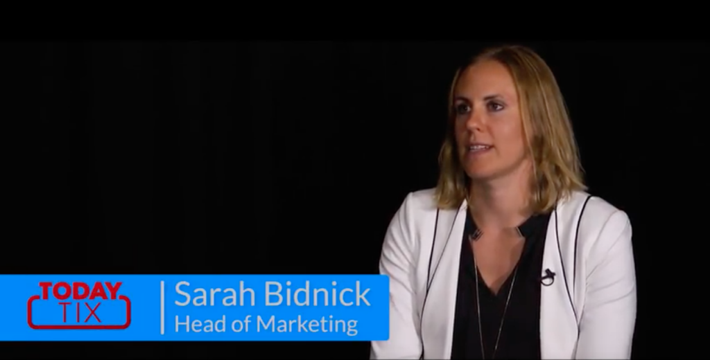 Sarah Bidnick TodayTix TUNE testimonial