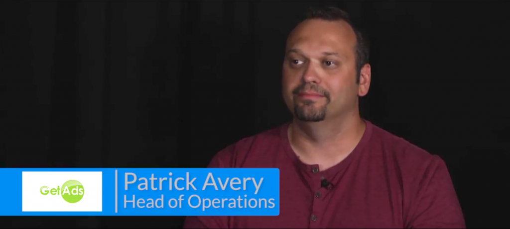 Patrick Avery GetAds testimonial