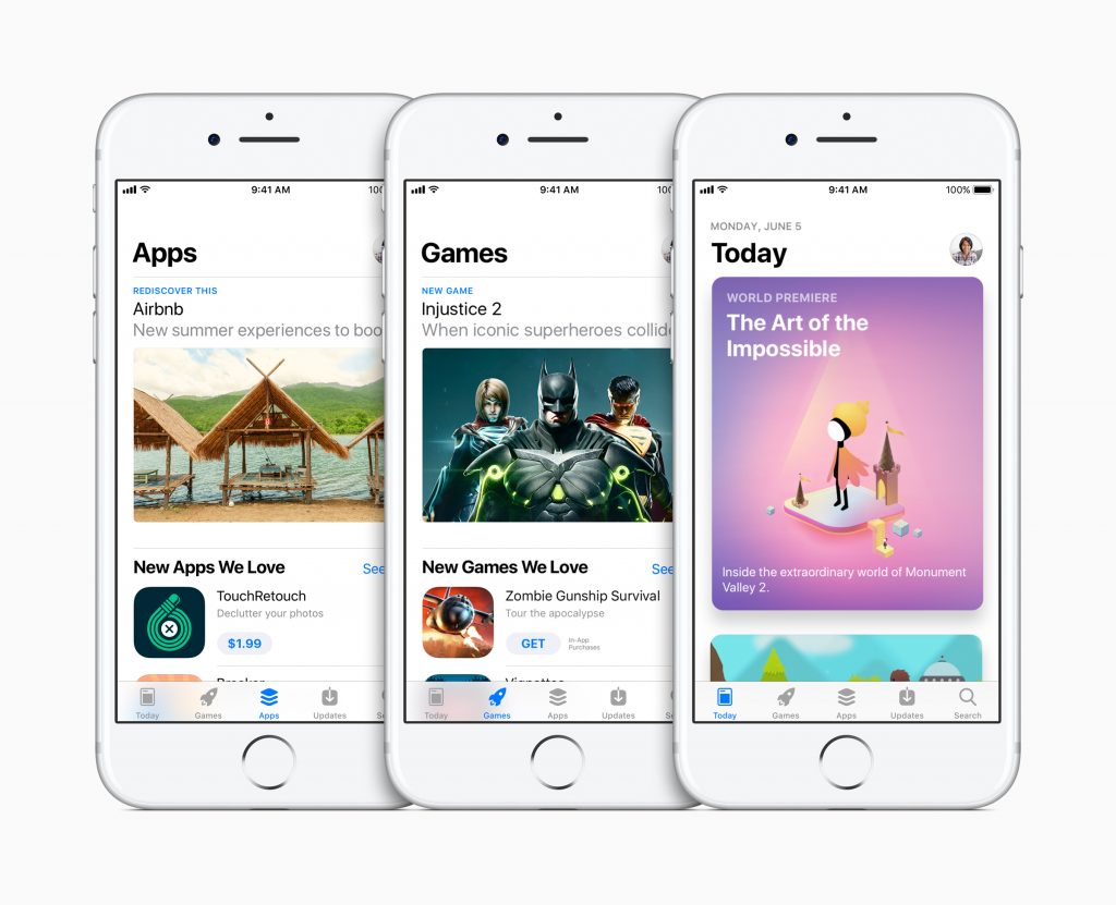 Apple image showcasing the new App Store