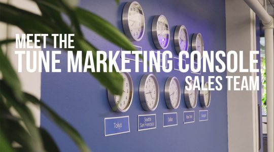 Meet the TUNE Marketing Console Sales team