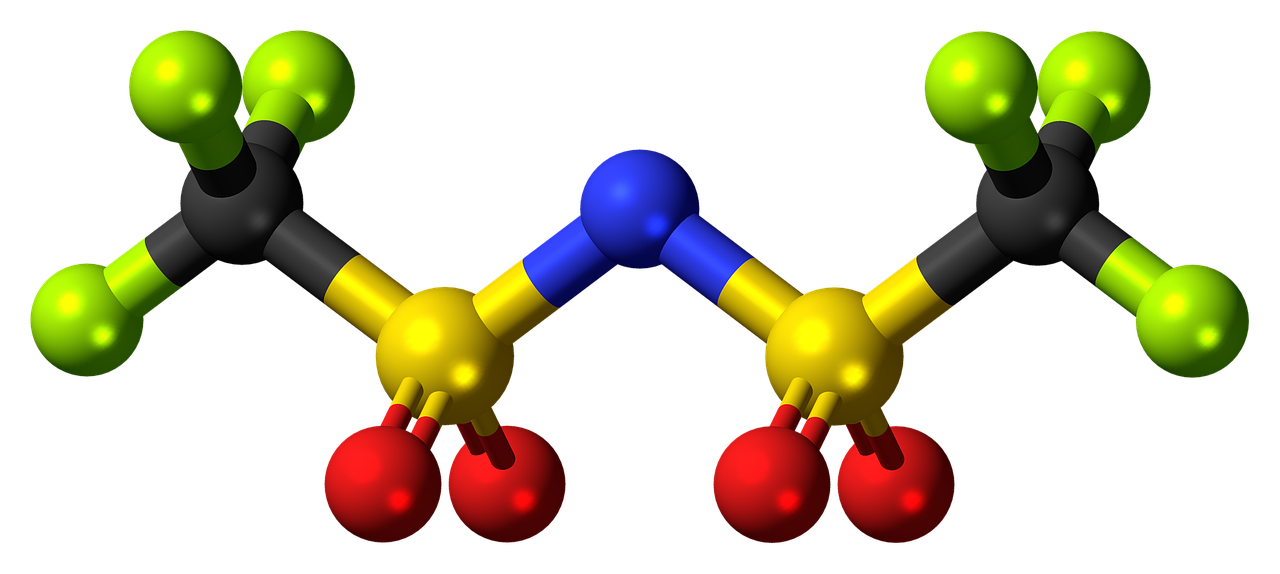 https://pixabay.com/en/bistriflimide-anion-molecule-model-910304/