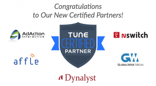TUNE Welcomes Five New Certified Partners