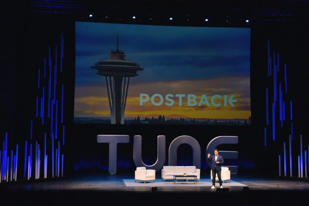 Peter Hamilton on stage at #Postback18