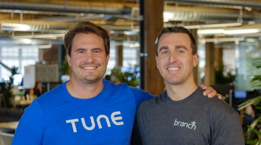 CEO of TUNE Peter Hamilton with CEO of Branch Alex Austin
