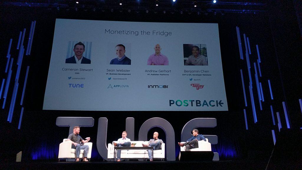 The Monetizing the Fridge panel at Postback 2018.