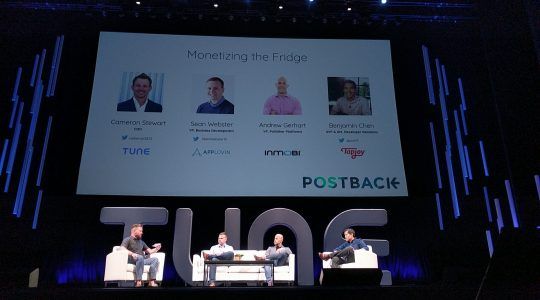 The Monetizing the Fridge panel at Postback 2018.