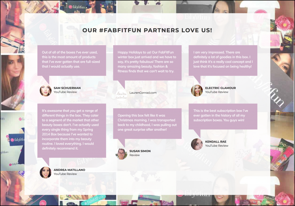 FabFitFun partners with different kinds of affiliates to sell subscription boxes in health, beauty, and fitness.