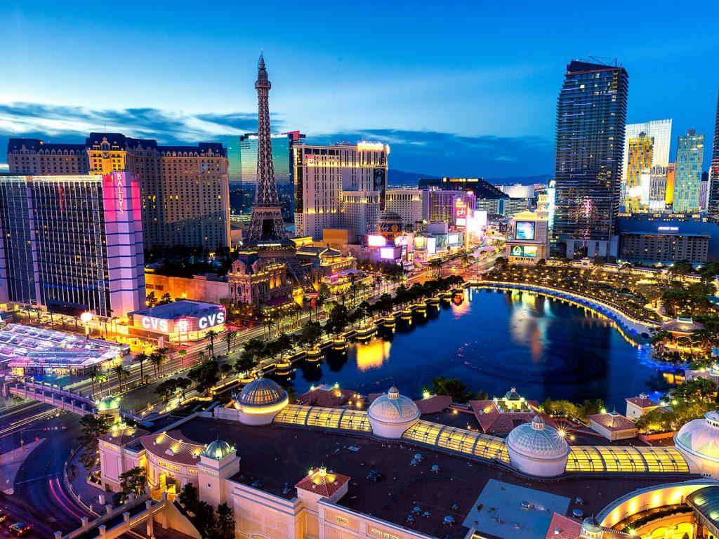 Bird's eye view of the Las Vegas Strip