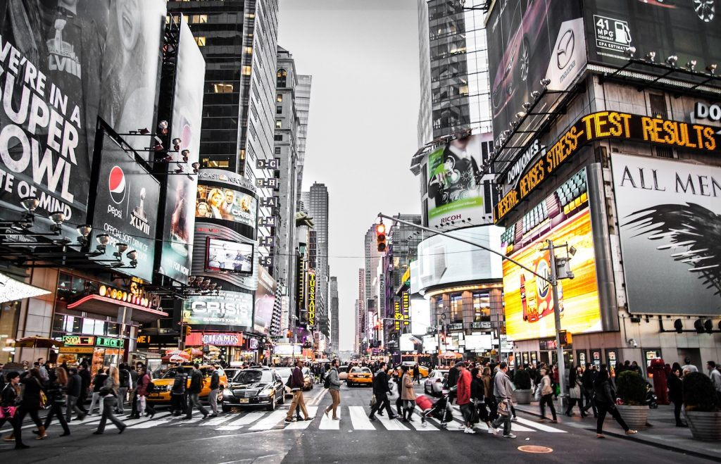 Picture of Times Square in New York City