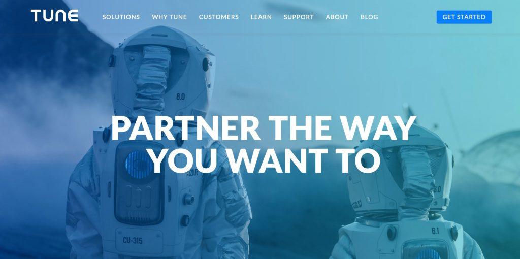 TUNE's new homepage